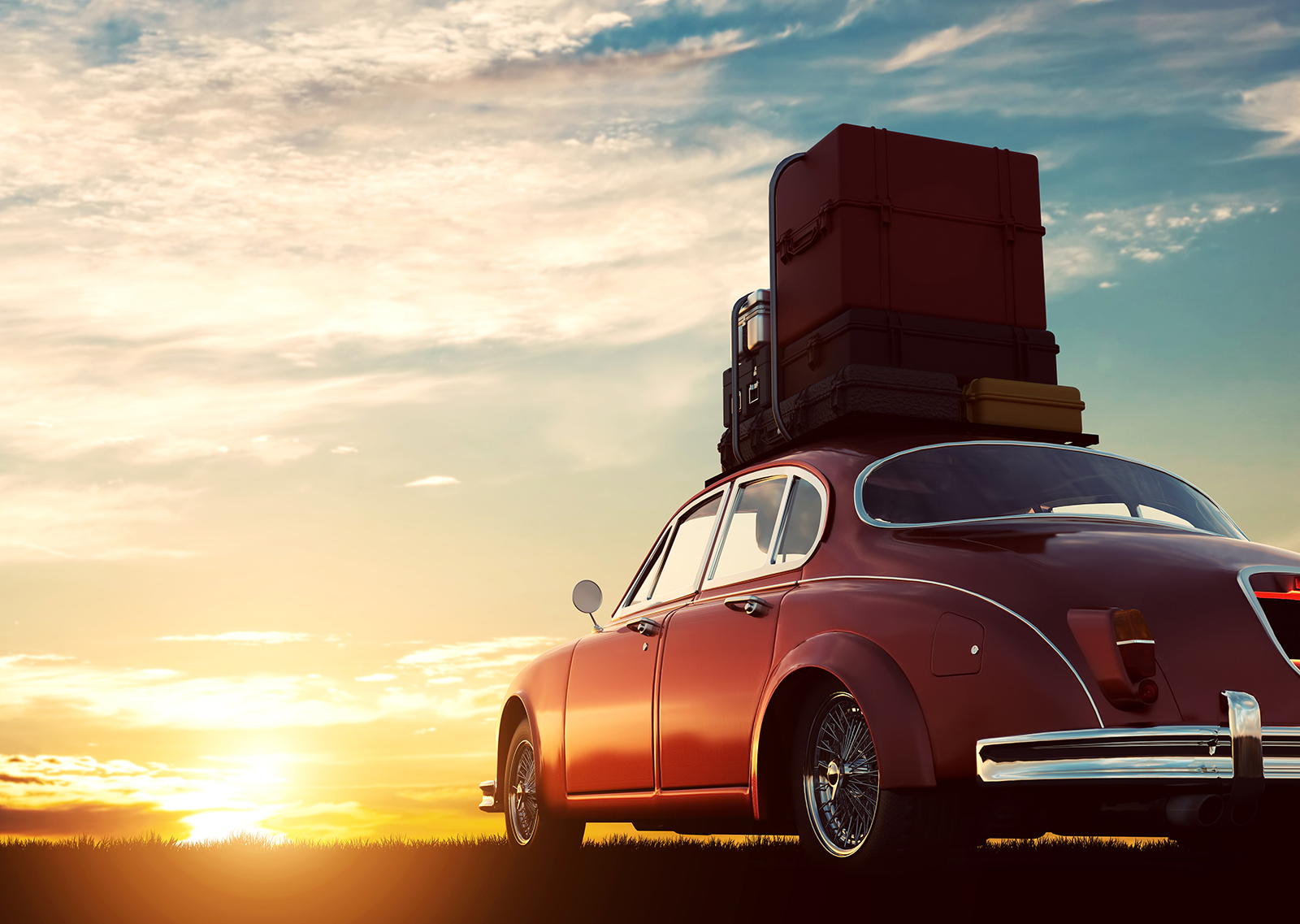 Car with luggage